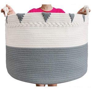 Cotton Rope Blanket Basket Storage